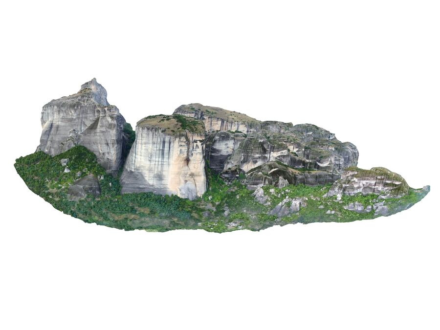Montañas Meteora royalty-free modelo 3d - Preview no. 6