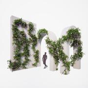 Generieke klimplanten 3d model