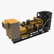 Generador de diesel modelo 3d