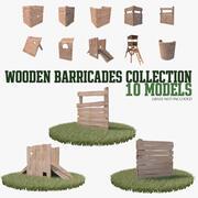 Colección Barricadas de madera modelo 3d