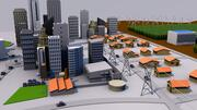 Smart Eco City Low Poly 3d model