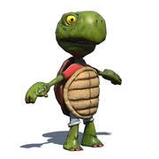 Comic Turtle V2 Riged 3d model