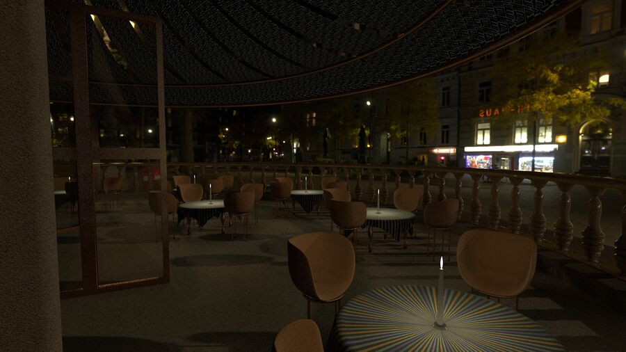 Sky Sushi & Sashimi Night Bar och Fine Dinning resturant royalty-free 3d model - Preview no. 5