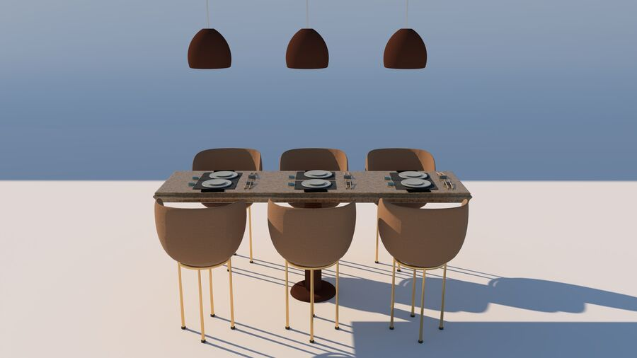 Sky Sushi & Sashimi Night Bar och Fine Dinning resturant royalty-free 3d model - Preview no. 15