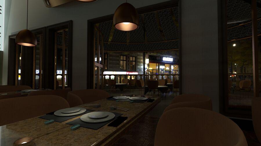 Sky Sushi & Sashimi Night Bar och Fine Dinning resturant royalty-free 3d model - Preview no. 4