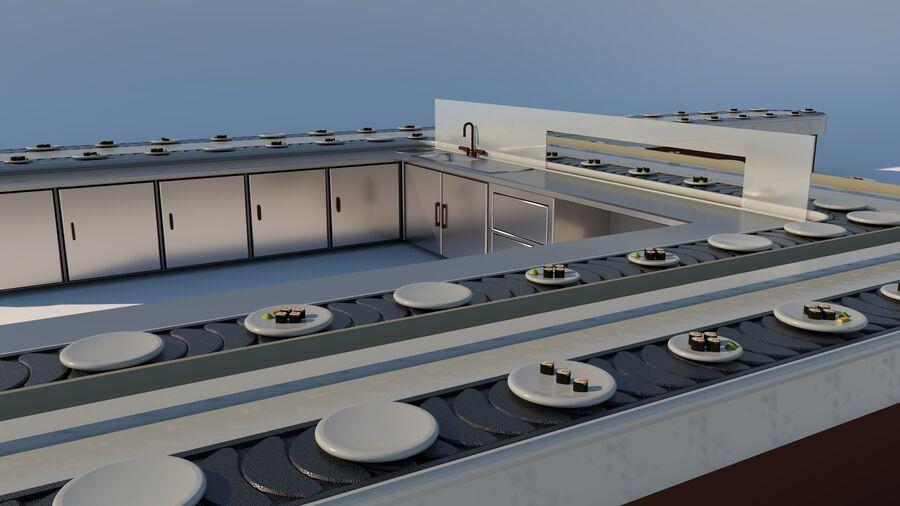 Sky Sushi & Sashimi Night Bar och Fine Dinning resturant royalty-free 3d model - Preview no. 12