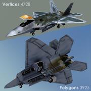 F-22 랩터 3d model