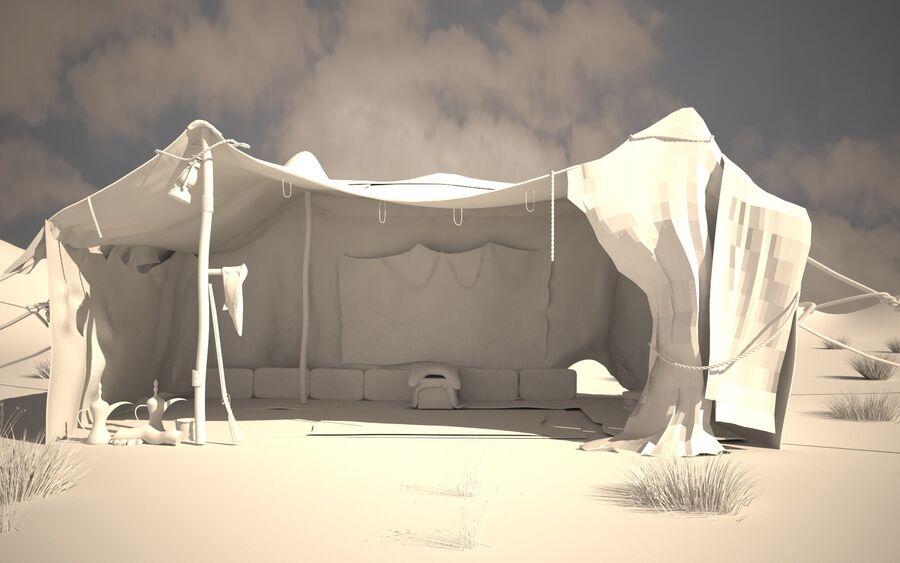 tente arabe royalty-free 3d model - Preview no. 4