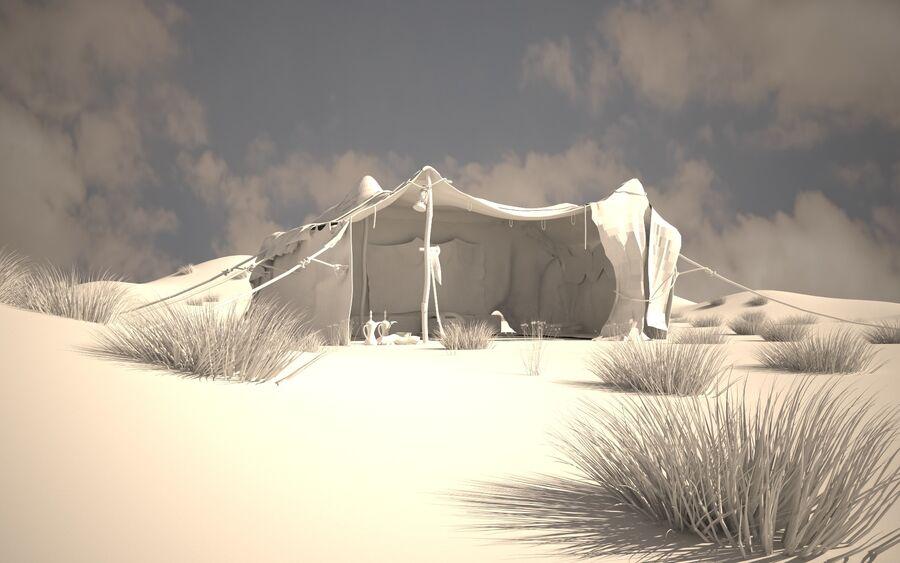 tente arabe royalty-free 3d model - Preview no. 2