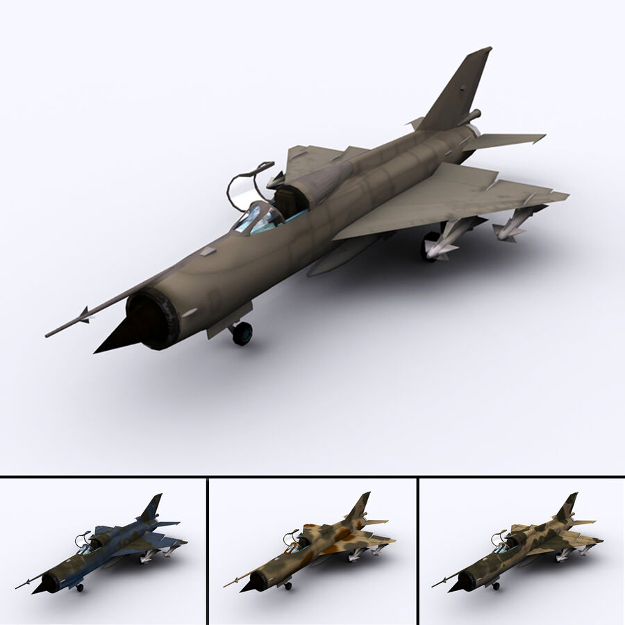 MIG 21 royalty-free 3d model - Preview no. 1