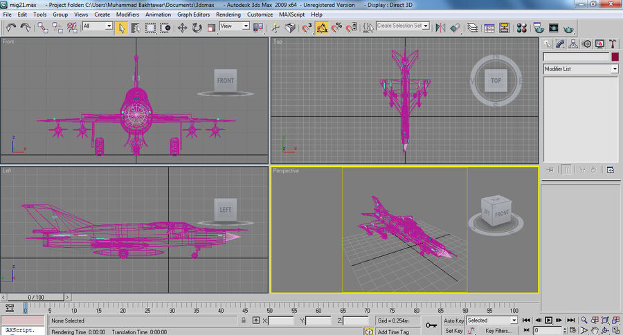 MIG 21 royalty-free 3d model - Preview no. 28