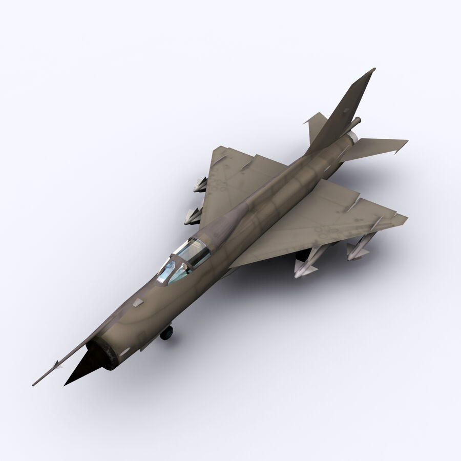 MIG 21 royalty-free 3d model - Preview no. 18