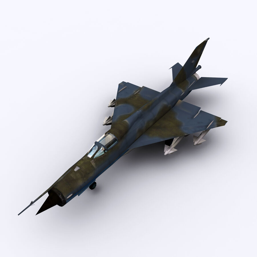 MIG 21 royalty-free 3d model - Preview no. 20