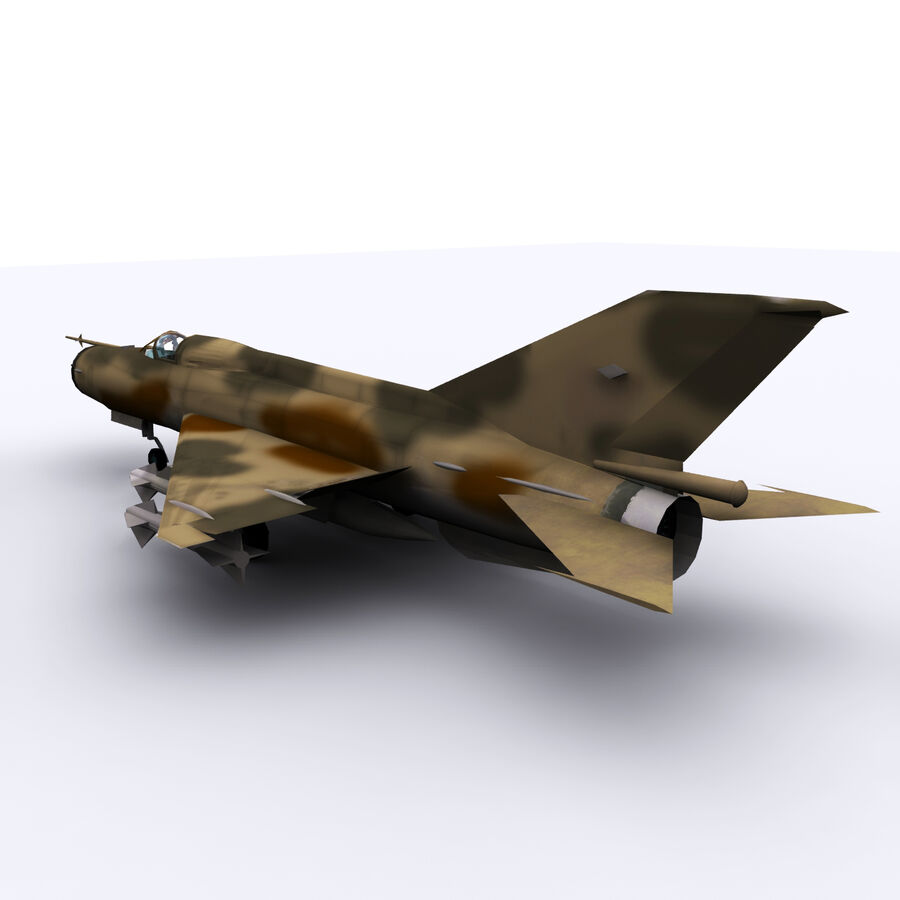 MIG 21 royalty-free 3d model - Preview no. 17