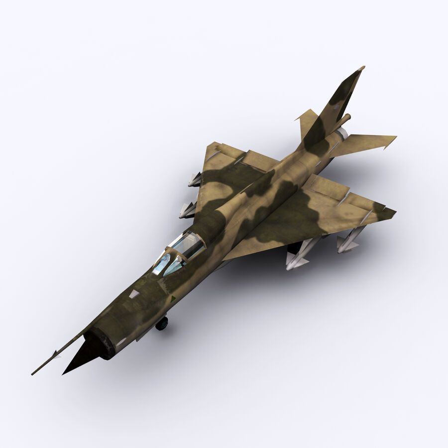 MIG 21 royalty-free 3d model - Preview no. 19