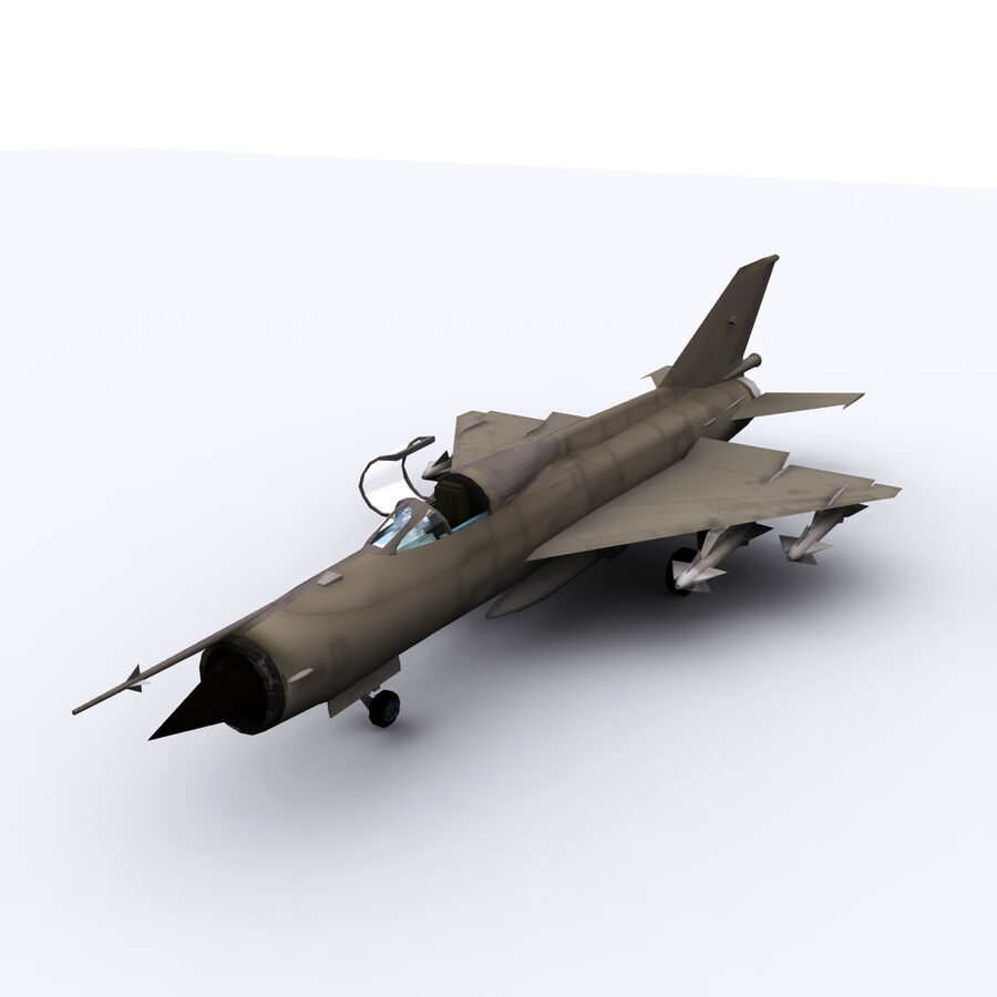 MIG 21 royalty-free 3d model - Preview no. 6