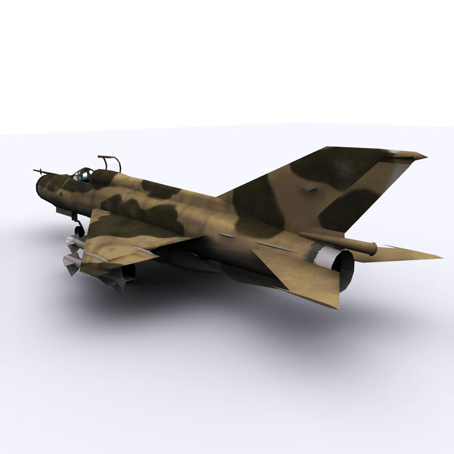 MIG 21 royalty-free 3d model - Preview no. 15