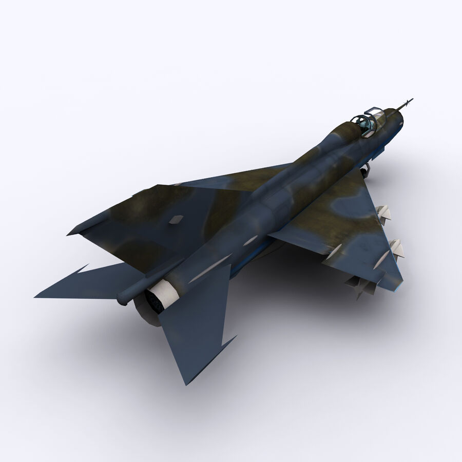 MIG 21 royalty-free 3d model - Preview no. 12