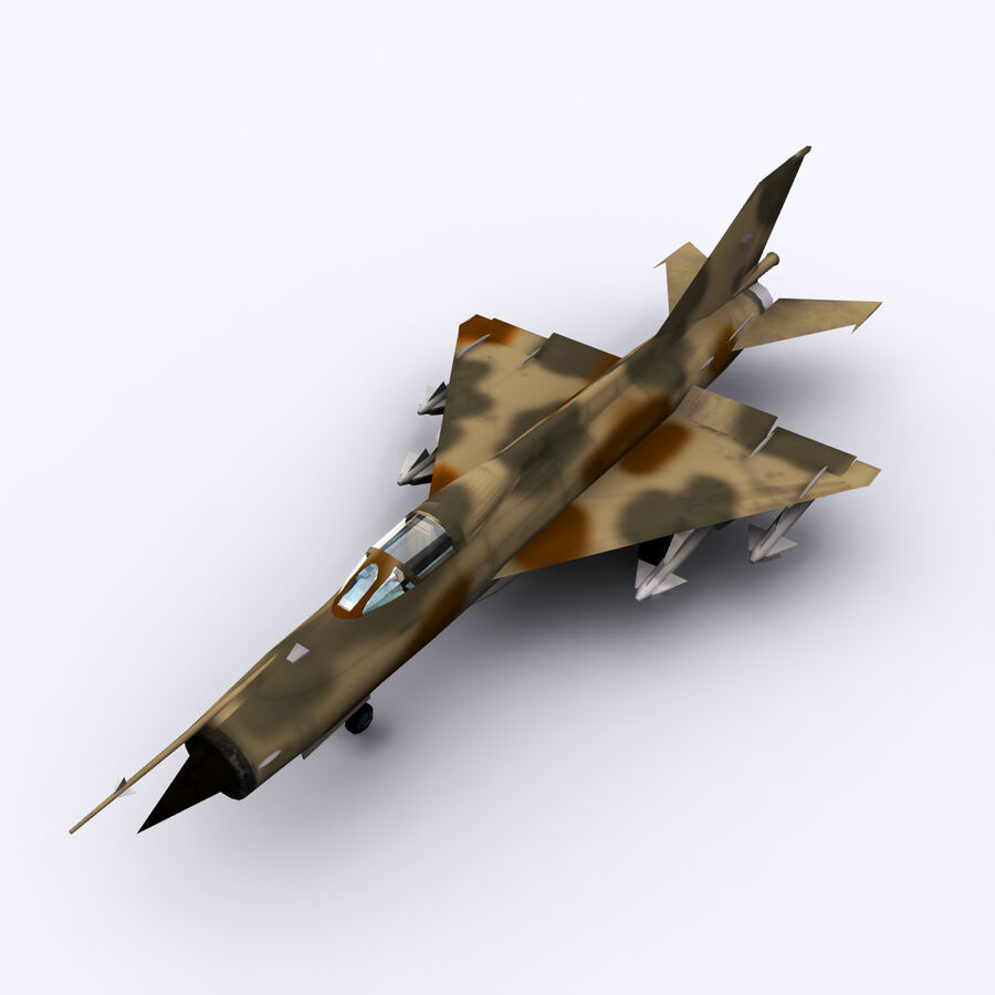 MIG 21 royalty-free 3d model - Preview no. 21