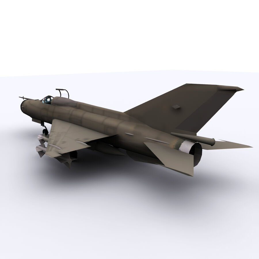 MIG 21 royalty-free 3d model - Preview no. 14
