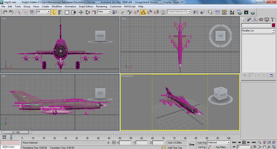 MIG 21 royalty-free 3d model - Preview no. 27