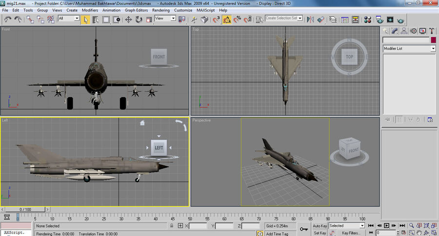 MIG 21 royalty-free 3d model - Preview no. 26