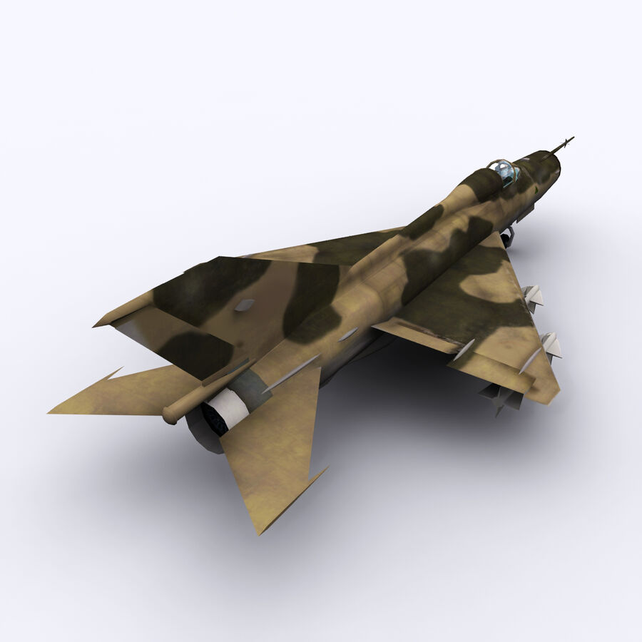 MIG 21 royalty-free 3d model - Preview no. 11