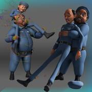 卡通警察 3d model