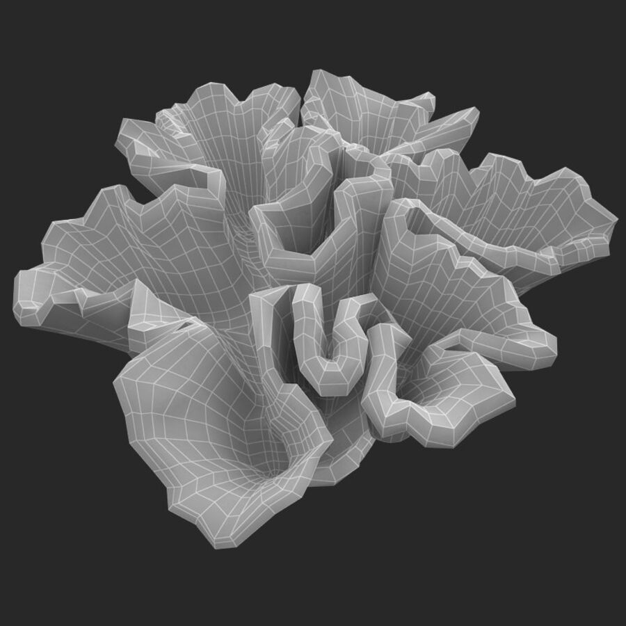 corals and coral fishes collection royalty-free 3d model - Preview no. 110