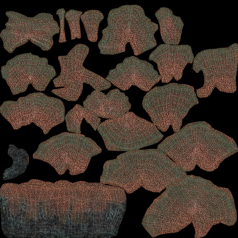 corals and coral fishes collection royalty-free 3d model - Preview no. 202