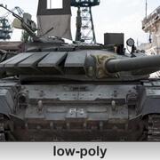 3D T-72 B3 Char de combat principal Low-Poly 3d model