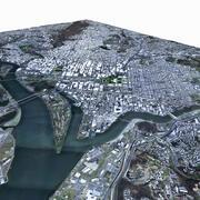 Вашингтон, округ Колумбия, с рельефом 3d model