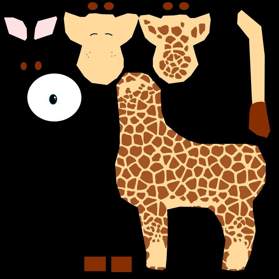 Giraffe royalty-free 3d model - Preview no. 9