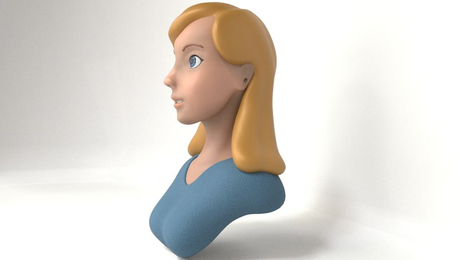 Popiersie Zgirl royalty-free 3d model - Preview no. 11