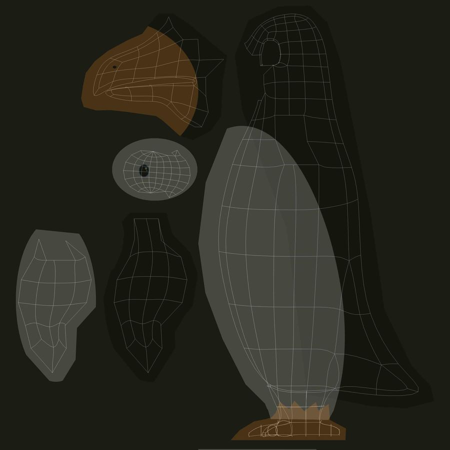 Pinguin royalty-free 3d model - Preview no. 8
