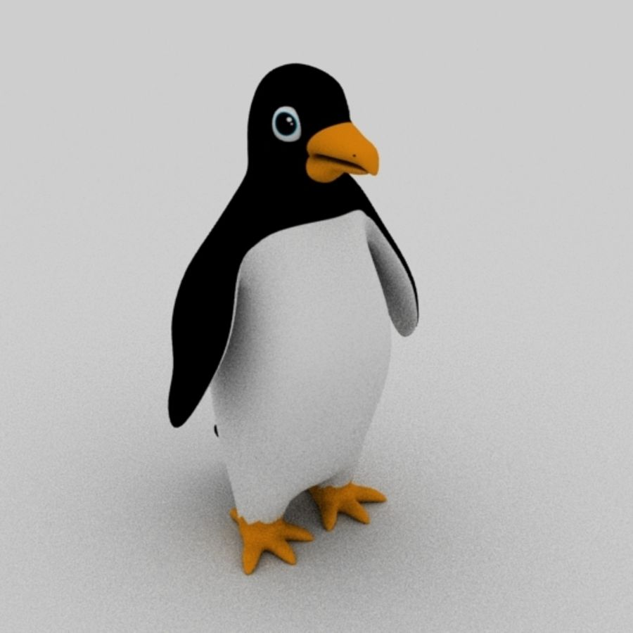 Pinguin royalty-free 3d model - Preview no. 1