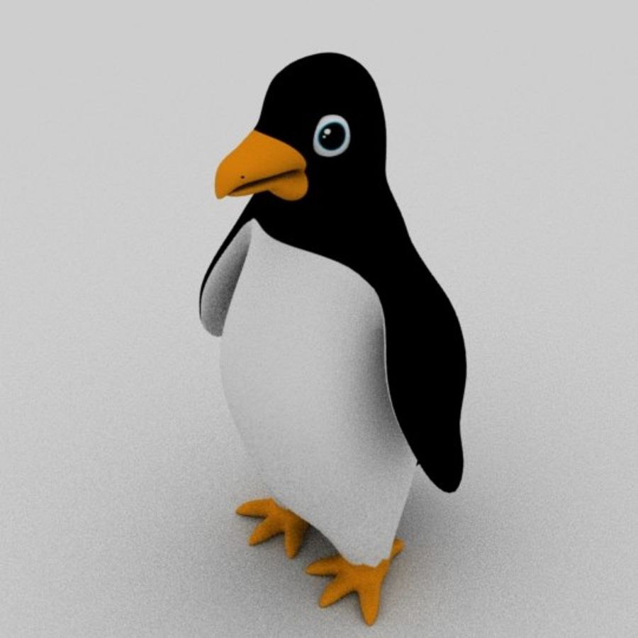 Pinguin royalty-free 3d model - Preview no. 4