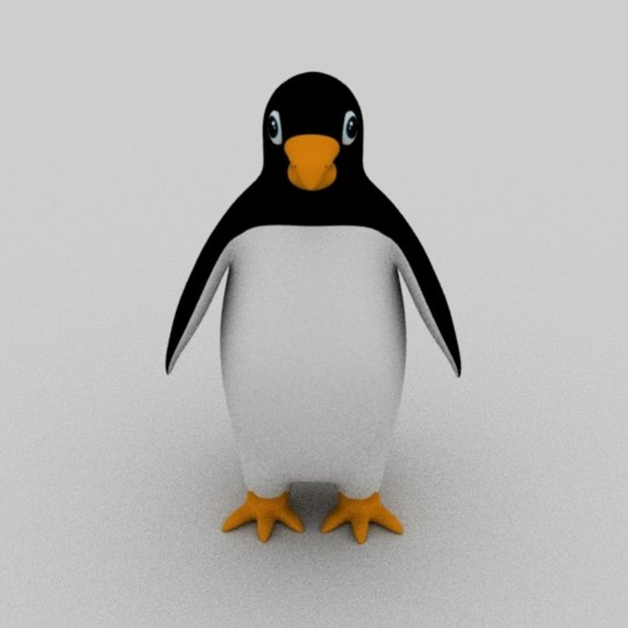 Pinguin royalty-free 3d model - Preview no. 2