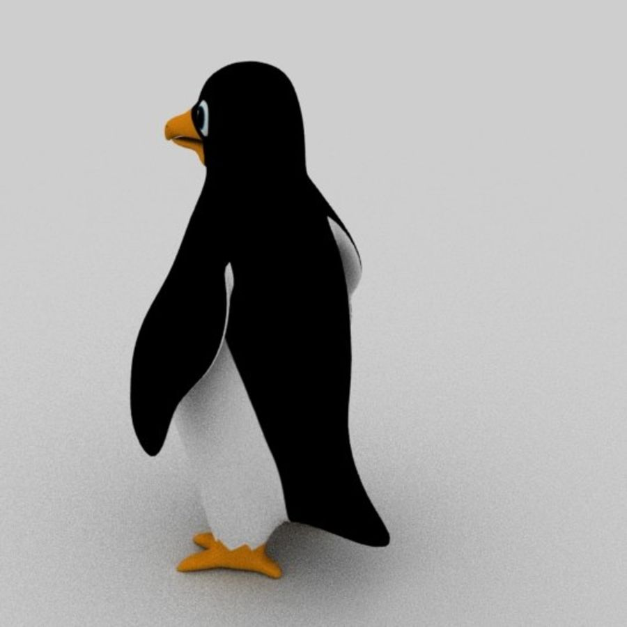 Pinguin royalty-free 3d model - Preview no. 5