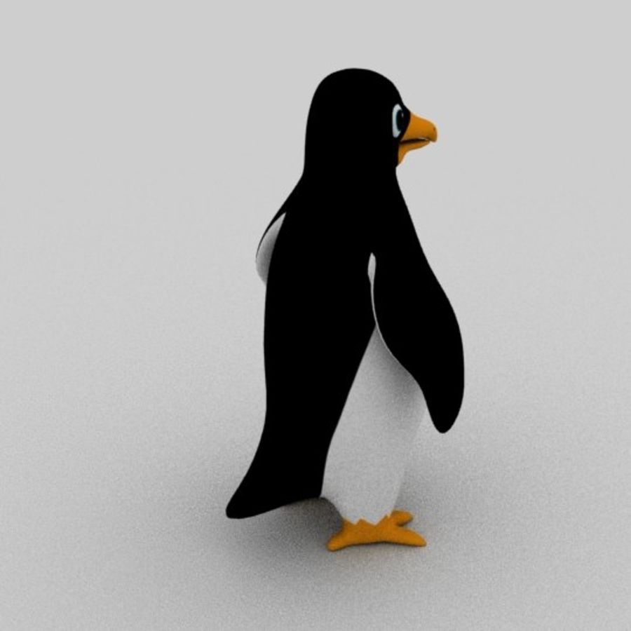 Pinguin royalty-free 3d model - Preview no. 3
