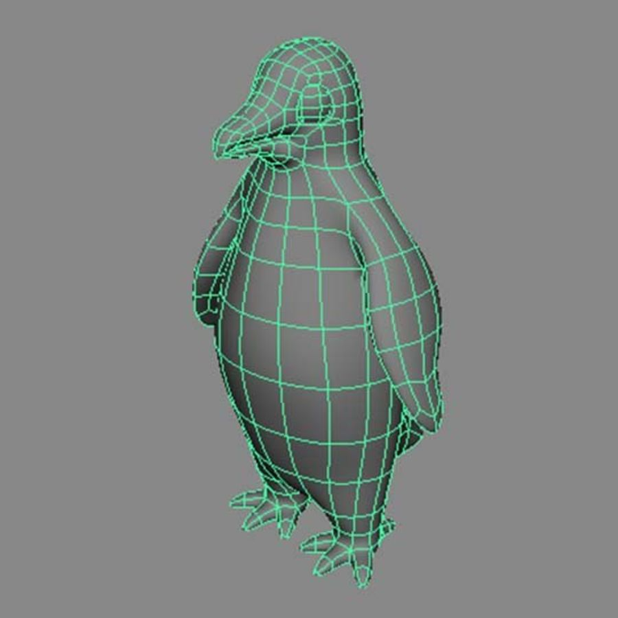 Pinguin royalty-free 3d model - Preview no. 6