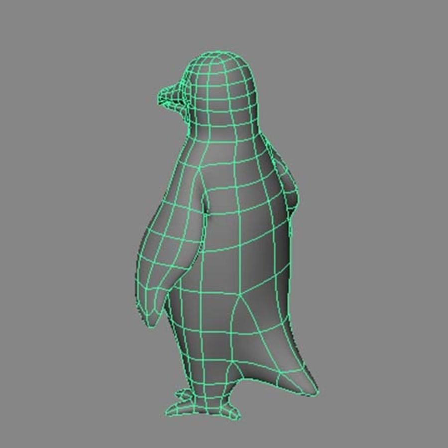 Pinguin royalty-free 3d model - Preview no. 7