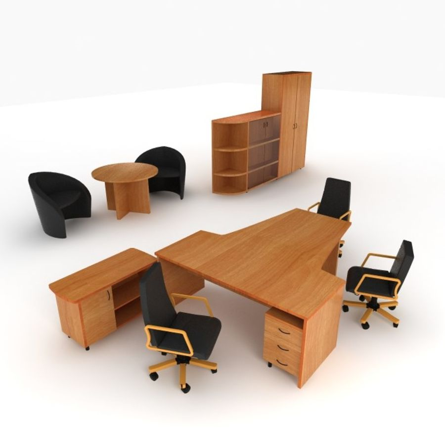 office royalty-free 3d model - Preview no. 1