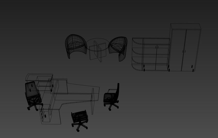 office royalty-free 3d model - Preview no. 5