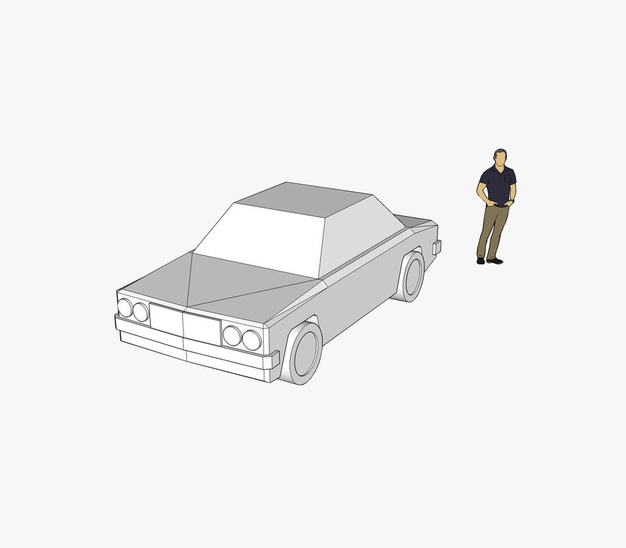 Vehicle SKP Car royalty-free 3d model - Preview no. 1