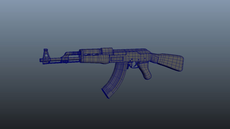 АК 47 royalty-free 3d model - Preview no. 1