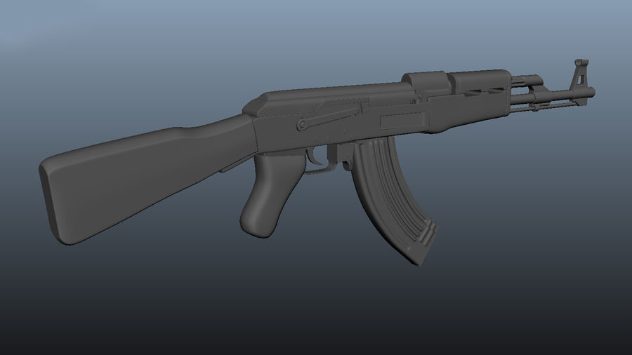 АК 47 royalty-free 3d model - Preview no. 3