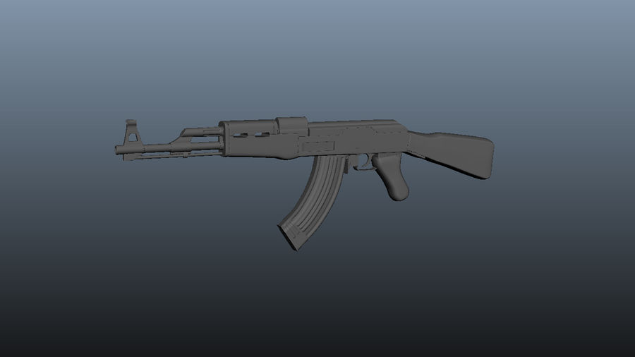 АК 47 royalty-free 3d model - Preview no. 2