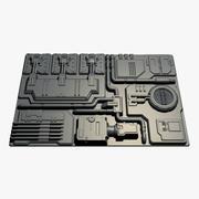 Panneau Sci-Fi 07 3d model