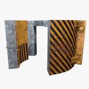 Antinuclear Door Old 3d model